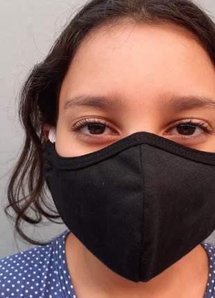 Kit 10 mascara tecido rosto não descartavel dupla proteção