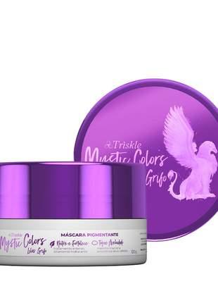 Máscara pigmentante triskle mystic colors cor lilás grifo 120g