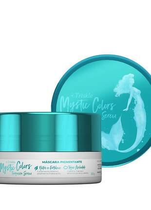 Máscara pigmentante triskle mystic colors cor turquesa sereia 120g