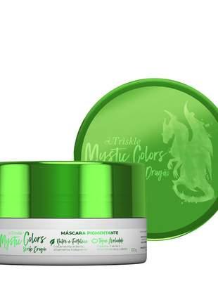 Máscara pigmentante triskle mystic colors cor verde dragão 120g