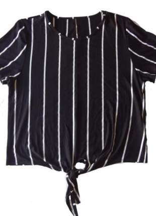 Blusa listrada com amarração
