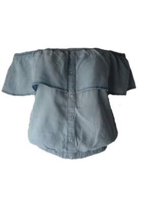 Blusa ciganinha jeans