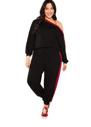 Conjunto blusa e calça jessica plus size ref:981