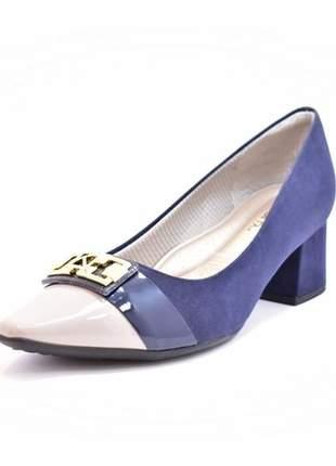Sapato feminino tamanho grande scarpin piccadilly navy numeração especial 40