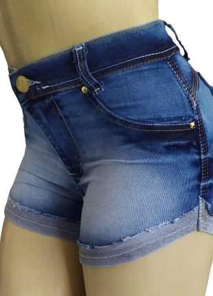 Shorts femininos cintura alta com elastano hot pants