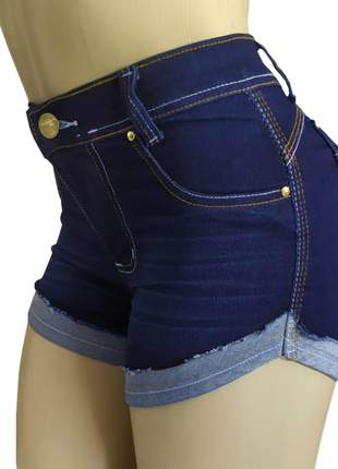 Shorts femininos cintura alta hot pants c/ elastano