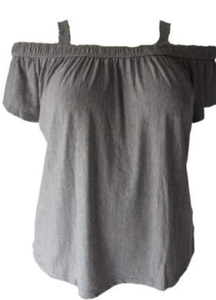 Blusa lurex ciganinha com alça plus size