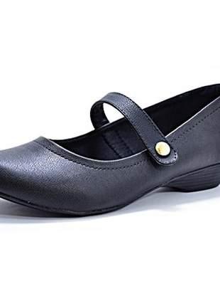 Sapato feminino salto baixo boneca renata della vecchia numeração especial 40, 41, 42, 43