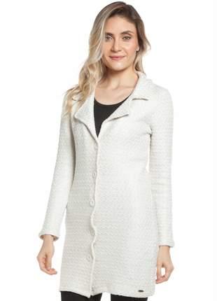 Casaco ralm tweed corte alfaiataria - off white