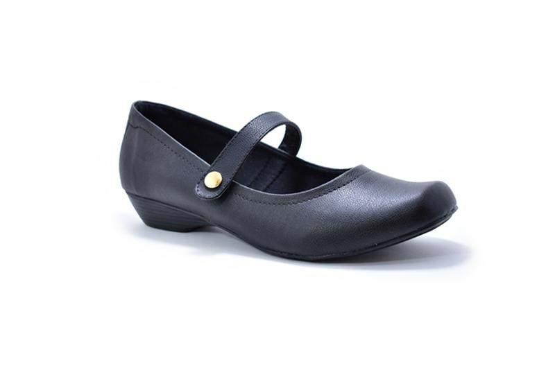 5362b5bcc5 ... Sapato feminino salto baixo boneca renata della vecchia numeração  especial 40