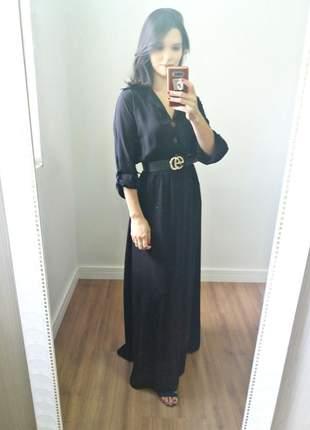 Chemise longa preta