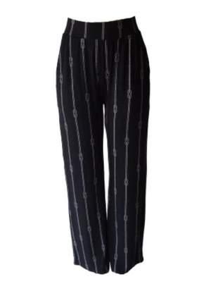 Calça pantalona flamê