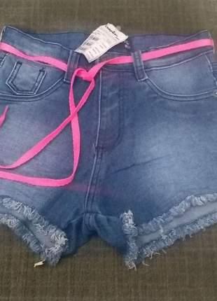 Shorts jeans cintura alta promoção verão