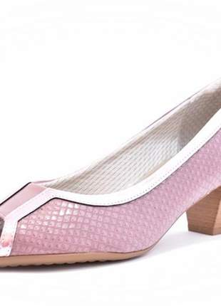 Sapato feminino tamanhos grandes peep toe piccadilly mauve numeração especial 40