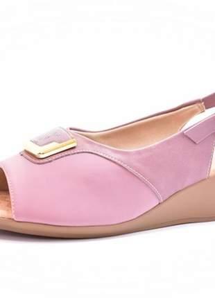 Sandália feminina tamanhos grandes chanel piccadilly mauve numeração especial 40