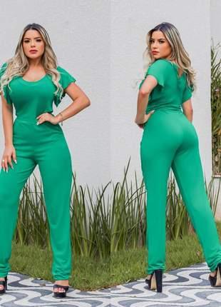 Macacão longo verde