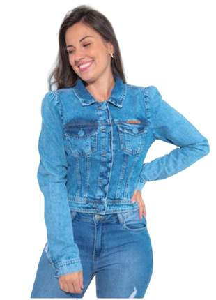Jaqueta jeans feminina curta estilosa revanche