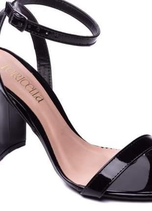Sandália feminina salto bloco 9 cm