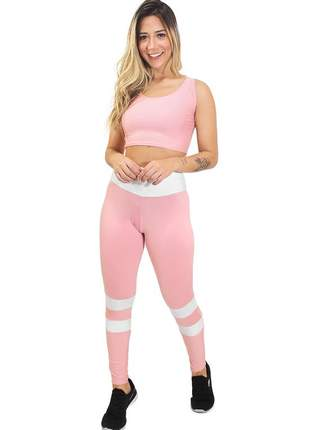 Conjunto feminino calça legging e cropped levanta bumbum