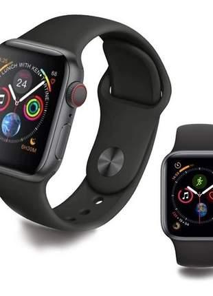 Relógio smartwatch iwo9 pro 44mm original gps troca pulseira