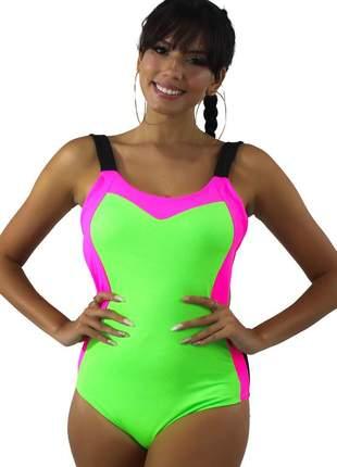 Body neon feminino com alcinha verde neon