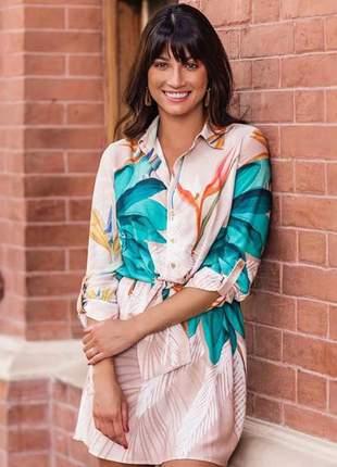 Vestido chamize tricomix