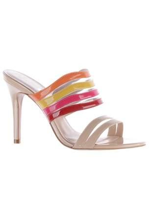 Sandália salto fino tamanco color