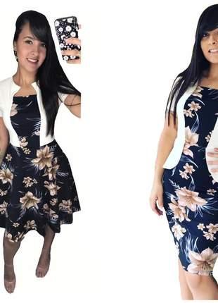Kit com 2 vestidos moda evangélica midi godê social festas igreja cristã