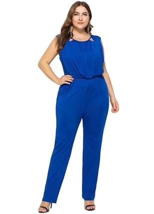 Compartilhar:  macacão plus size patrícia ref:973 (azul)