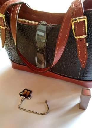 Bolsa em couro legitimo feito artesanalmente direto de fabrica