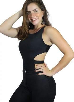 Body feminino alcinha costa nua com faixa