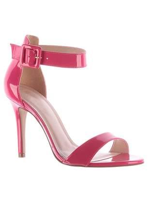 Sandália salto alto tira pink