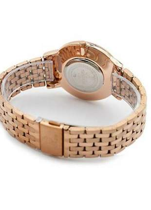 Relógio feminino rose analógico 5041 tuguir