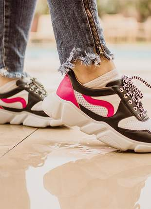 Chuncky dad sneaker pink