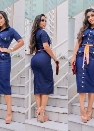 Vestido jeans moda evangélica