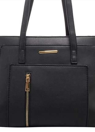 Bolsa feminina media preta importada elegante birô lançamento