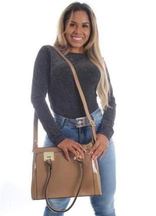 Bolsa feminina em verniz alça removível tiracolo moda blogueiras
