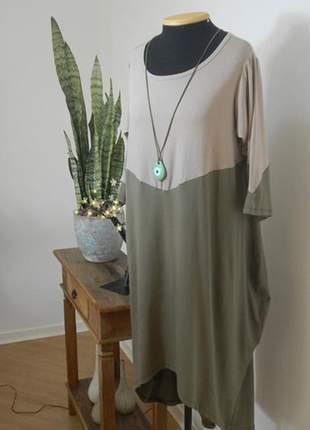 Vestido mullet bicolor