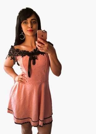 Vestido curto rodado princesa ciganinha renda soltinho moda blogueiras