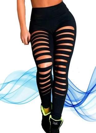 Calça legging giletada verão academia