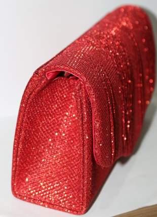 Clutch de festa bolsa de mao luxo noite brilho chique