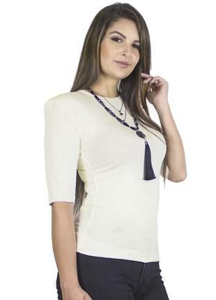 Blusa com ombreiras estilo muscle off white