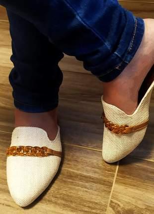 Mule feminino sapatlha rasteirinha palmilha confort - atacado