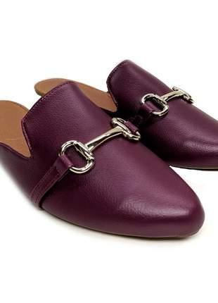 Mule feminino sapatlha numeração especial 40 41 42 43 palmilha confort - atacado