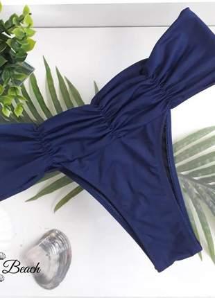 Biquíni cropped cinturão - listras azul marinho – soulbeach