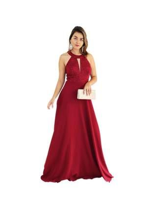 Vestido de festa longo noiva madrinha mãe gestante brilho