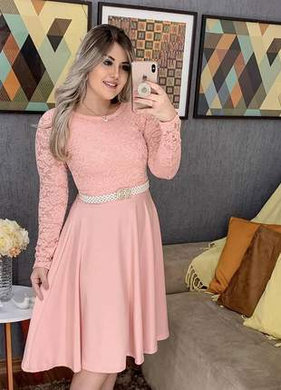 Vestido feminino midi gode moda evangelica promoçao