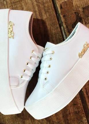 Tênis sola alta plataforma platform flatform feminino sneaker lançamento 2020
