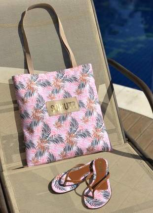 Kit chinelo sandália rasteirinha + bolsa schutz lançamento verão moda