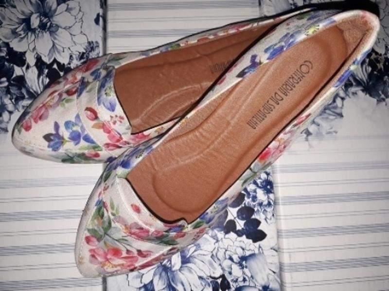 fba4c5ffe Sapatilha mocassim tendência floral confort top nº35 - R$ 34.99 ...